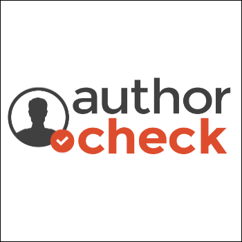 Image: Author Check logo (links to Author Check page on NIOGA website)